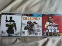 I have 2 ps3 games:  KILL ZONE 3  RED DEAD REDEMPTION