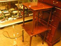 2 queen anne end tables $30.00 can be seen 9am to 5 pm