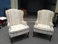 For sale are 2 Queen Anne Style Chairs. Chairs are in