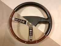 TWO RACING STEERING WHEELS - OLD SCHOOL MOMO COBRA &