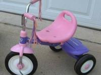 Two (2) Radio Flyer Fold N' Go Trikes Pink and