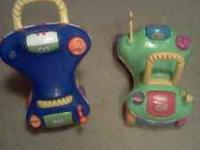 2 ride on push toys. 10$each or 15$ for the pair.  call