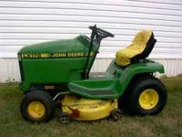 john deere,38 inch cut,14hp kawasaki,runs and cuts good