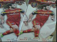 I'm selling two RSL tickets to the game on Saturday,