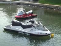 Two low hour SeaDoo GTX's 4-TEC. each is a 3-seater and