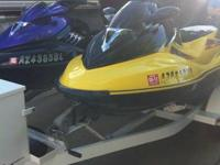 Yellow: 2004 Seadoo Bombardier Supercharged PWC - 185