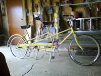 Columbia 2-seat bicycle. Needs a rear tube & tire.