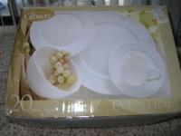 (2 Sets) 20 Pieces by Gibson Designs Porcelain Dinner