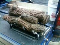 Hello for sale 2 sets of used fireplace gas logs with