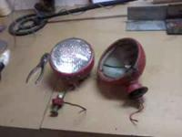 2 sets of headlights for a ford 8N tractor. need work.