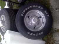 1 set of centerline rims with tires in good shape,