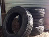 1 set of pull off tires with approximately 40,000 miles