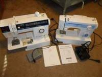 Have 2 practically brand new sewing machines, a singer