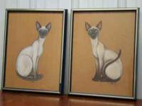 This is great for a cat lover! 2 Siamese Cats - by Kwil