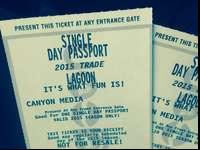 Two single day passport for lagoon - 2015 only!Will