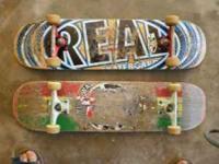 "Skateboards - $30 each or $50 for both ""Real"" -Krux"