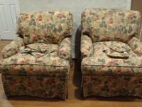 2 Skirted Upholstered Chairs From Domain Home Fashions