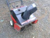 I have 2 single stage snowblowers for sale yard