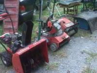 I HAVE TWO SNOW BLOWERS, THEY NEED TUNE UPS, 1 MTD YARD