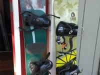 1 burton youth  snowboard and 1 rob morrow snowboard