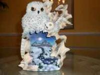 Snow Owls Can be used as a decoration or night light