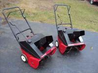 I have 2 snowblowers that have new wear edges on the