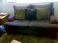 we have 2 sofas maroon in excellent quality( $400 ) and