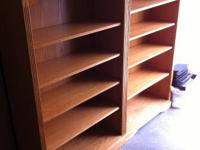 These high-end solid wood bookcases are for sale. These
