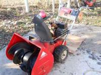 Here is a toro it has a 5hp briggs and stratton 26""