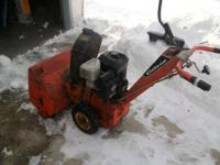 For Sale: 2 stage Snow Thrower It works well except it