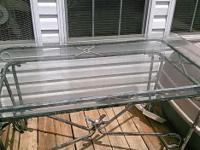 Type:Furniture Glass top table with four chairs and