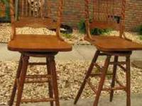 For sale are two (2) Tall Kitchen Bar Stools, these
