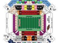 "2 tickets section 148 Row BB 23 and 24 ""Aisle Seats"" ."