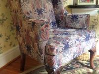 We have for sale 2 Thomasville wing back chairs ...