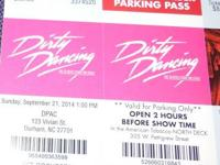 I have TWO tickets for DPAC Broadway series Dirty