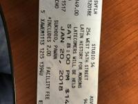 2 tickets for Latin History For Morons. Studio 54