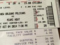 I have 2 tickets for Miami Heat video game Saturday Oct