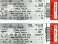 I AM SELLING 2 TICKETS TO SEE JAMES TAYLOR, THURSDAY