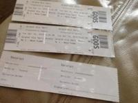 Selling two tickets to he Grand Ole Opry on April 14,
