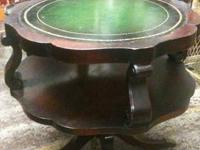 "Beautiful old 2-tier round ""DUNCAN PHYFE"" table"