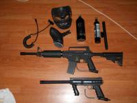 2 tippman paintball guns, both are like new, both work