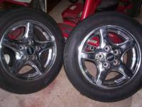 For Sale 2 -Rims and tires, Crome 5 Star Rims mounted