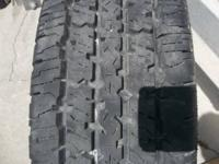 Two: 225/75 R16 Firestone Transforce HT. They have