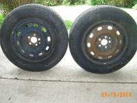 2 TIRES IN GOOD CONDITION 205-65R15 FIRESTONE AFFINITY