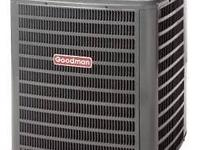 A GOODMAN 2-Ton 16-SEER Central Air Conditioner Has