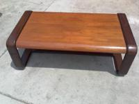This is a beautiful 2 tone coffee table...mid century