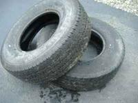 "2 -16"" Truck tires. They are not a matching set. About"