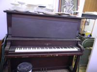 2 upright pianos; 1 a knight brinkerhoff, the other is