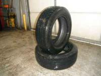 2 Used P215/60/R16 Uniroyal Tigerpaw in good condition