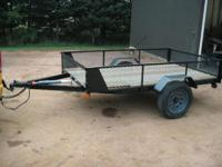 For sale I have 2 nice new/rebuilt utility trailers.